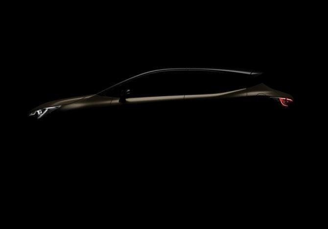 Опубликовано первое тизерное изображение третьего поколения хэтчбека Toyota Auris